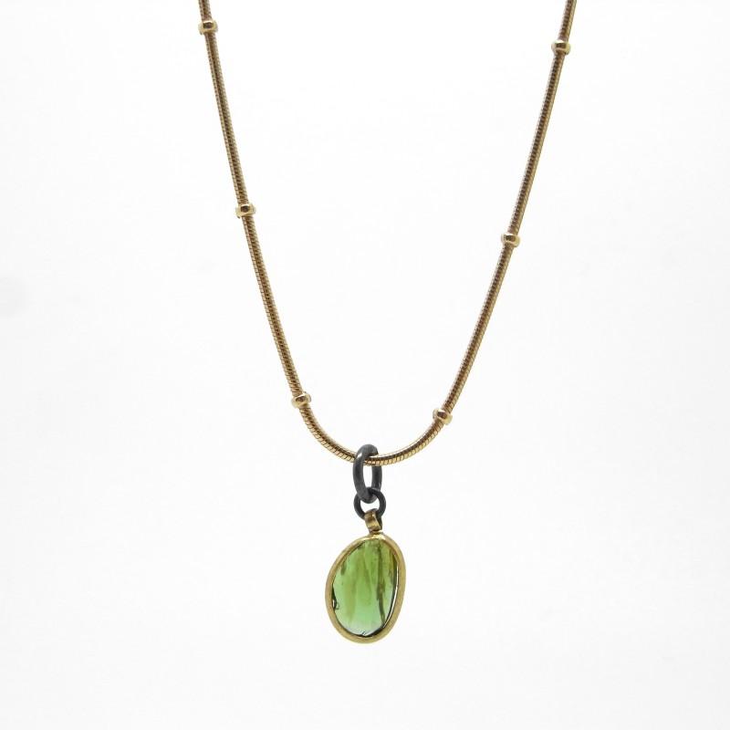 Green Tourmaline Pendant Necklace