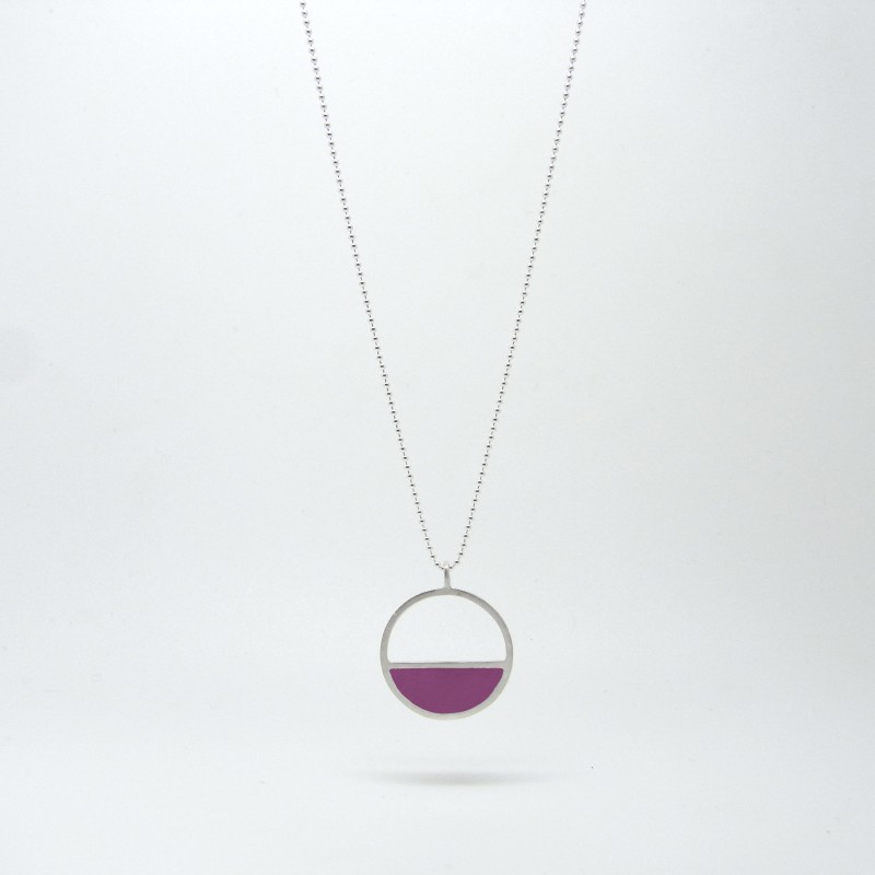 Semi Circle Necklace Lollipop