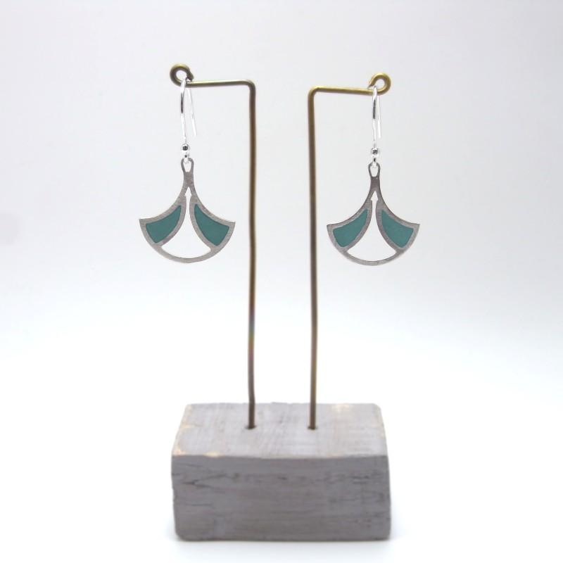 Small Fan Earrings (made to order)