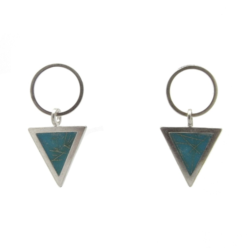 Triangle Drop Studs with Gold Fleck