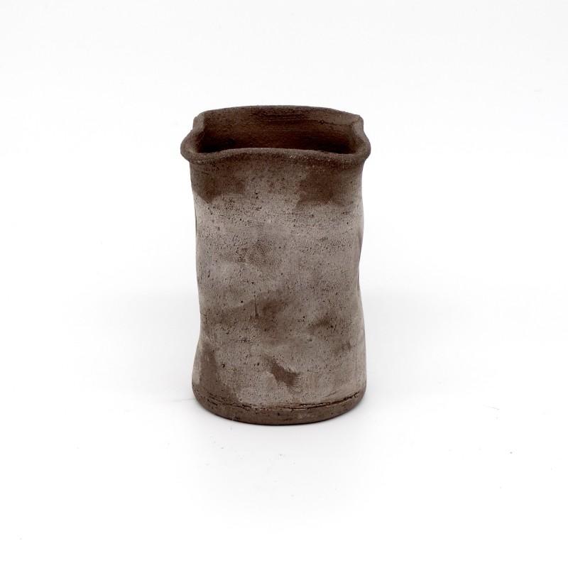 Black Terracotta Vase - small
