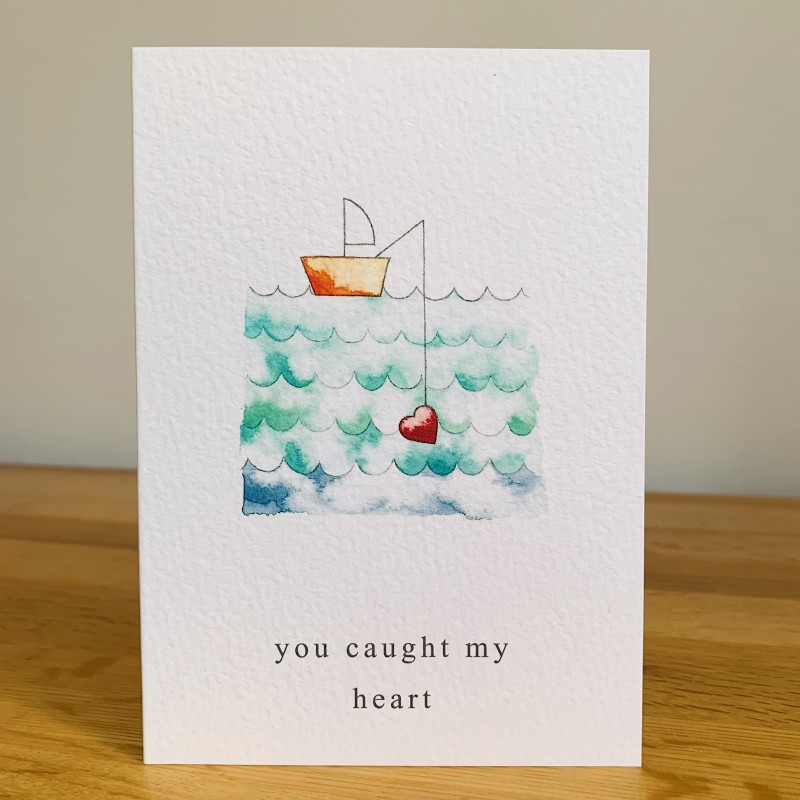 You caught my heart card
