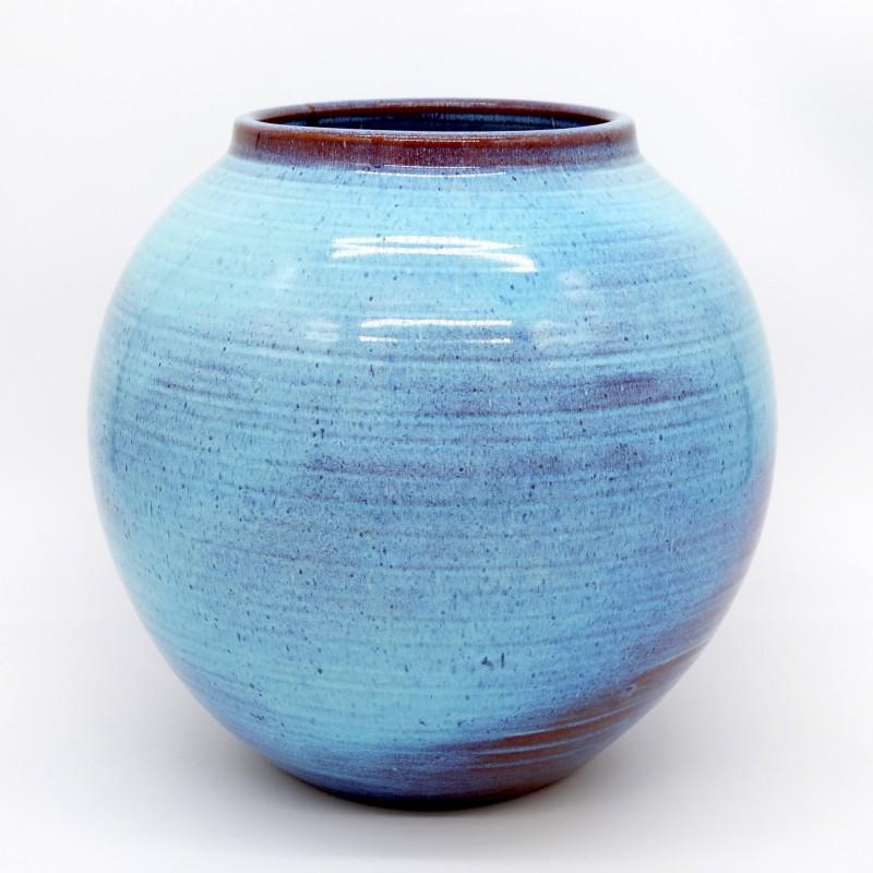 Vase Glazed Blue