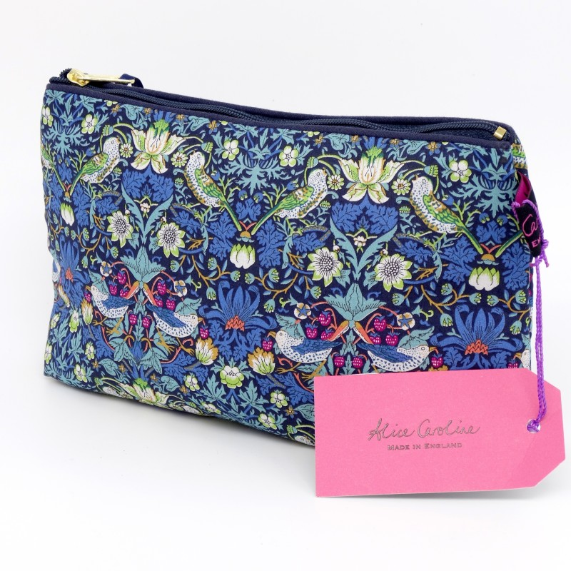 Cosmetic bag -  strawberry blue