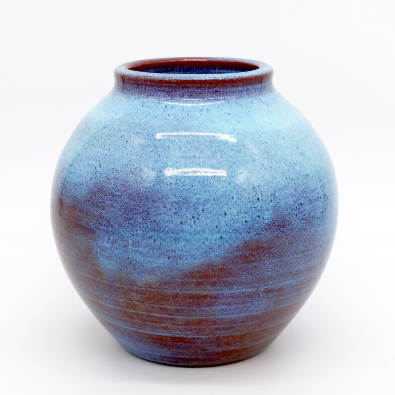 Vase Blue Glaze