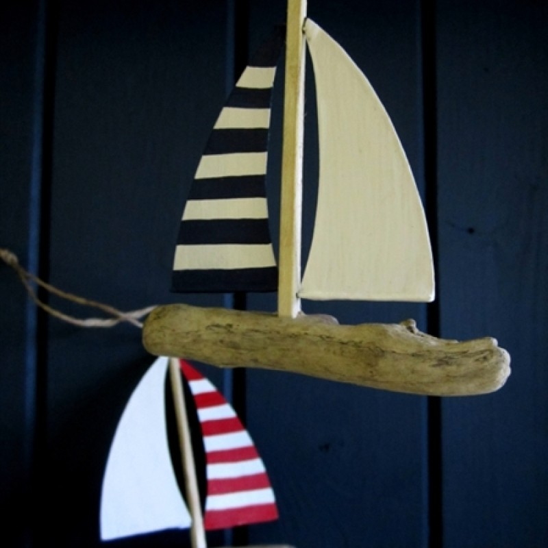 Stripey yacht
