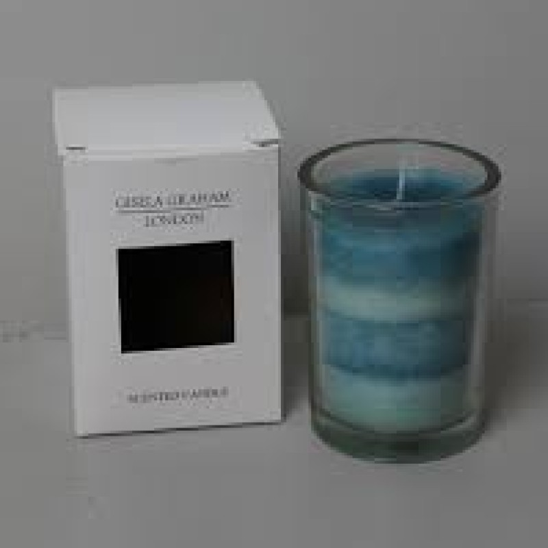 Scented striped candle