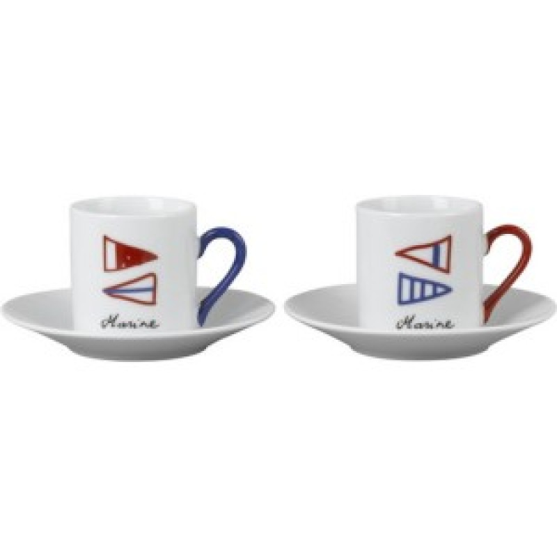 Marine sails espresso cups