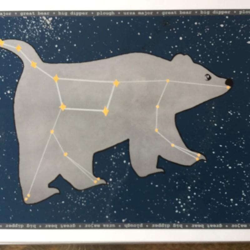 LLS A4 Starry night Great Bear print