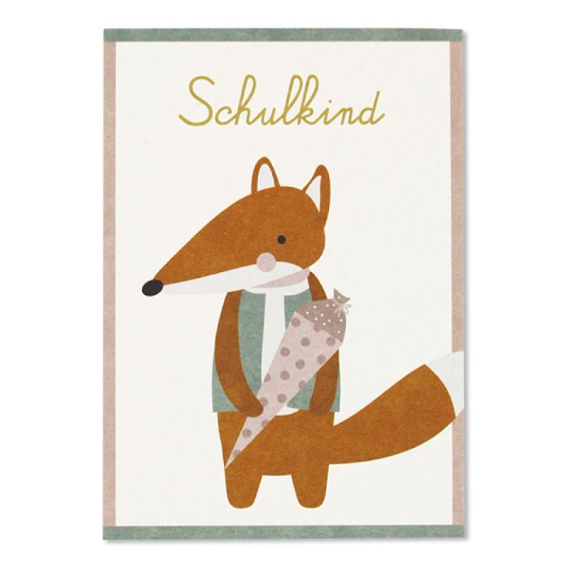 Postkarten Schulkind, Recyclingpapier, ava&yves