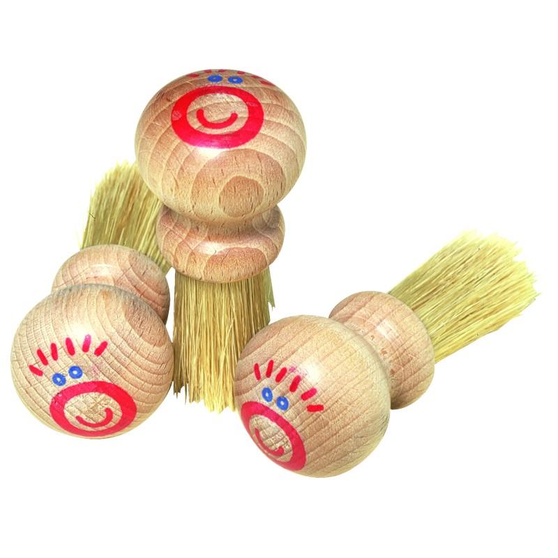Kindermalbürste, Borste, Holzgriff