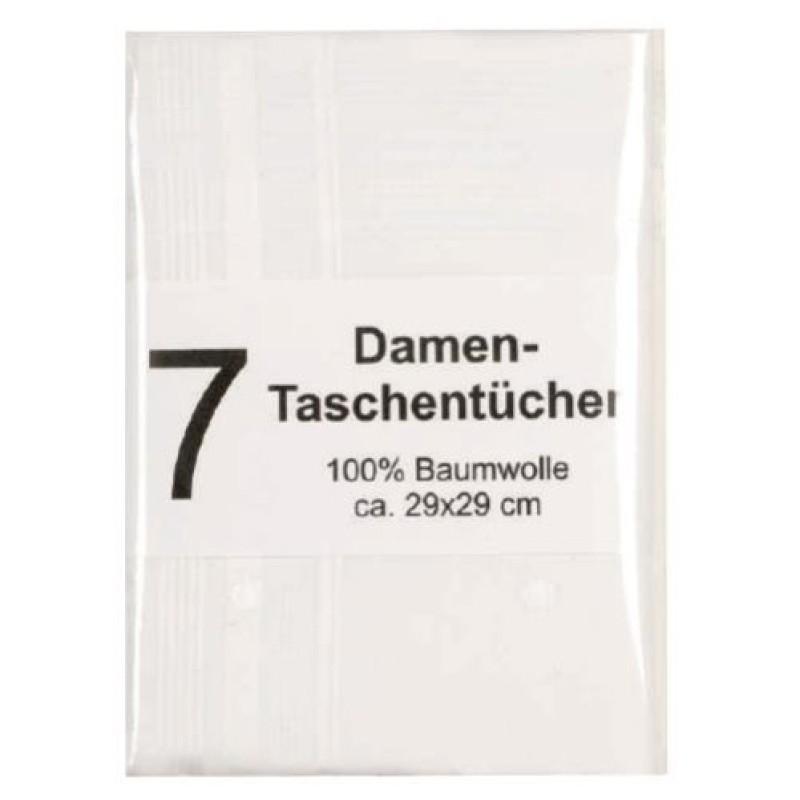 Damentaschentücher, 7er-Pack, weiß