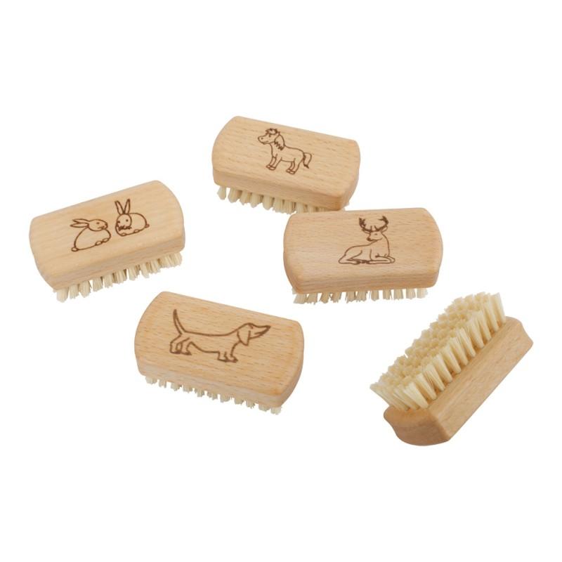 Kindernagelbürste aus Holz, plastikfrei
