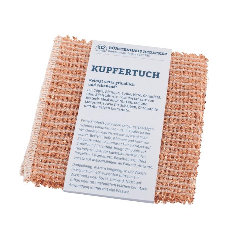 Kupfertuch, 14 x 15 cm 2er Set