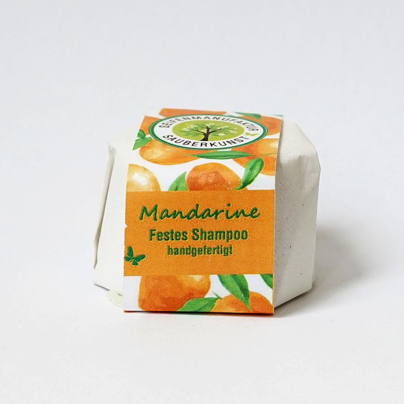 Mandarine, festes Shampoo