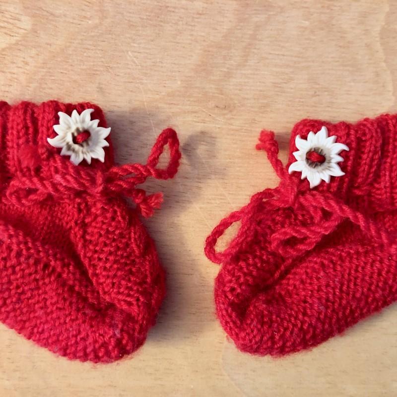 Trachtensöckchen rot Baby Handmade