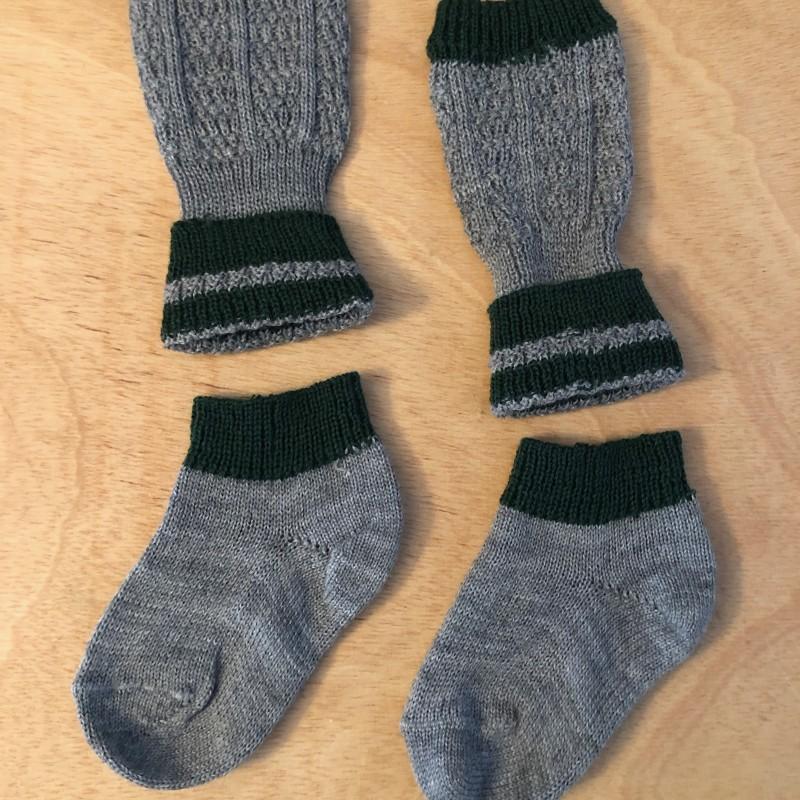 Gr. 23-25 Loferl (Wadenwärmer + Socken)