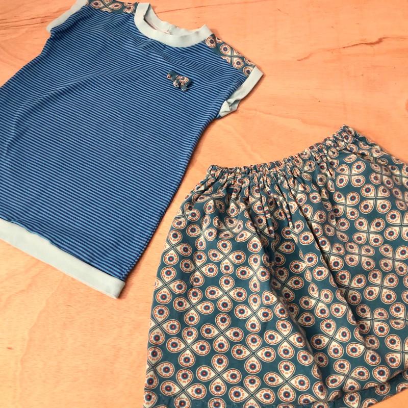 Gr. 98-104 Handmade Set Rock & Shirt