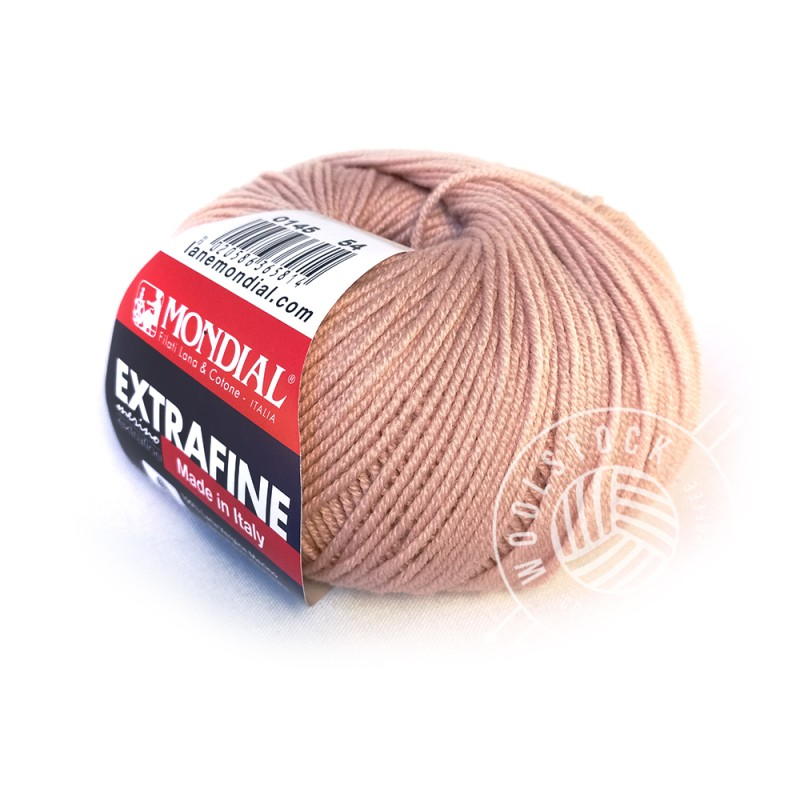 Extrafine Merino 145 dusty rose