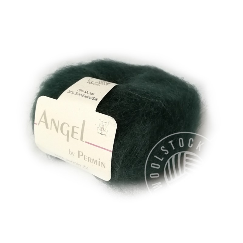 Angel mohair 70 flaskegrøn