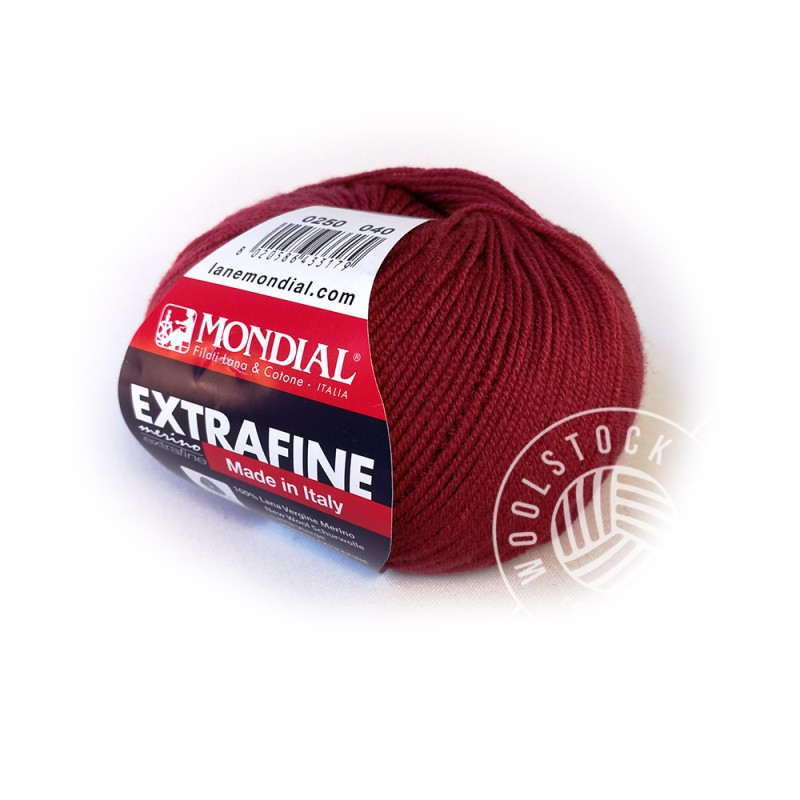 Extrafine Merino 250 red wine
