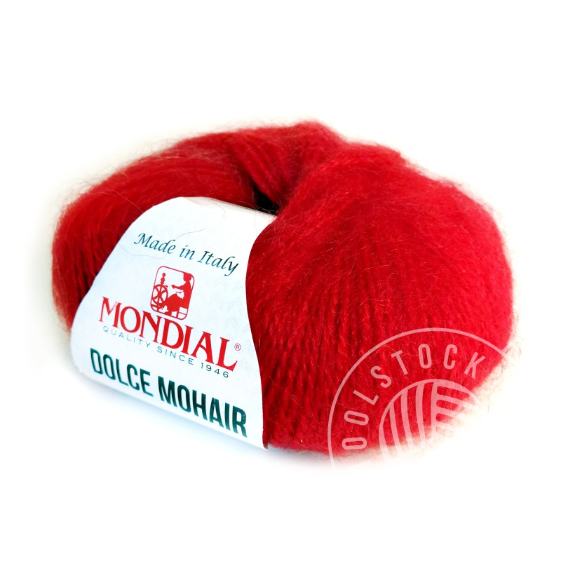 Dolce Mohair 563 candy apple red