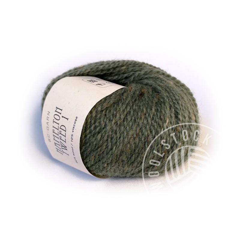 BC Hamelton Tweed 13 army green