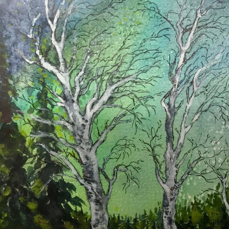 Akvarell Norrsken
