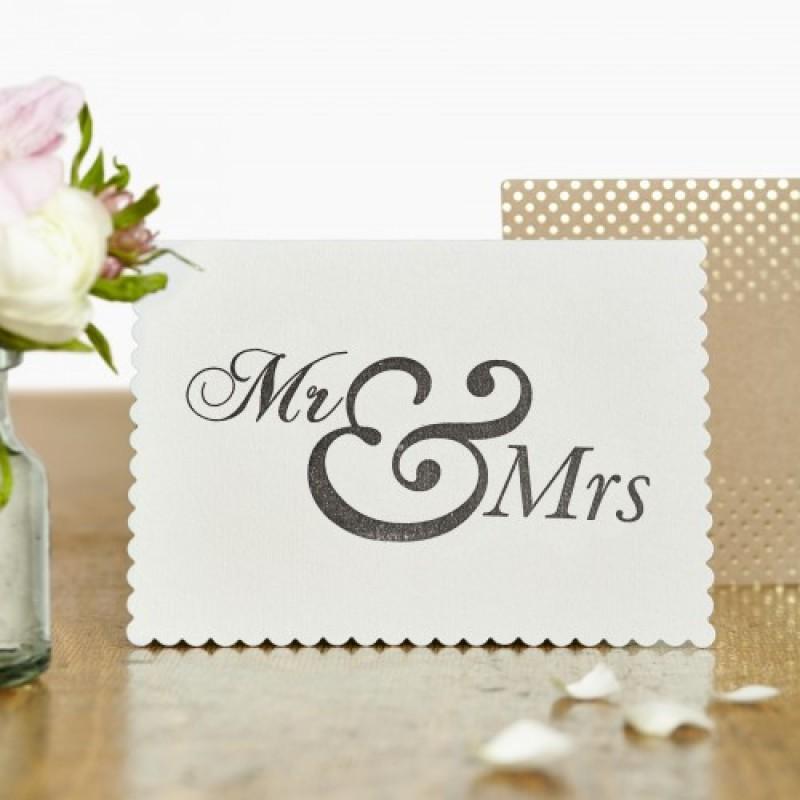 Mr & Mrs Card by Katie Leamon