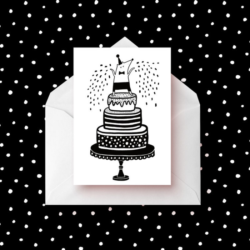 Party Cake Card by Abigail Burch