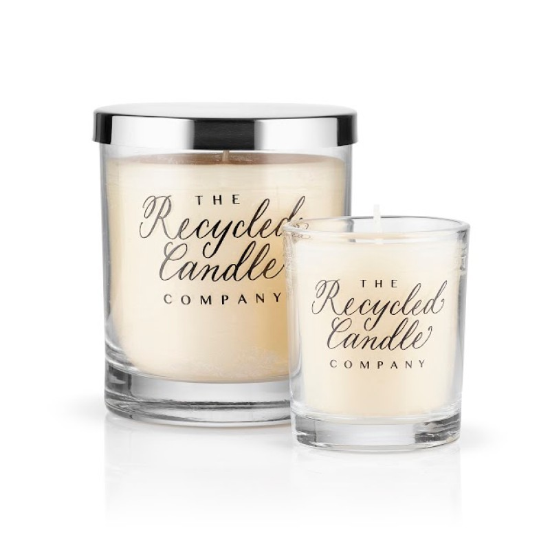 White Jasmine & Mint Candles by The Recycled Candle Co.