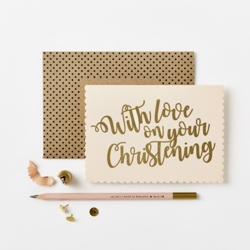 Christening Card by Katie Leamon