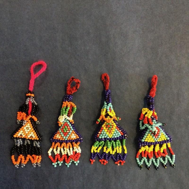 Bedouin Small Beaded Madili Triangle Tassels
