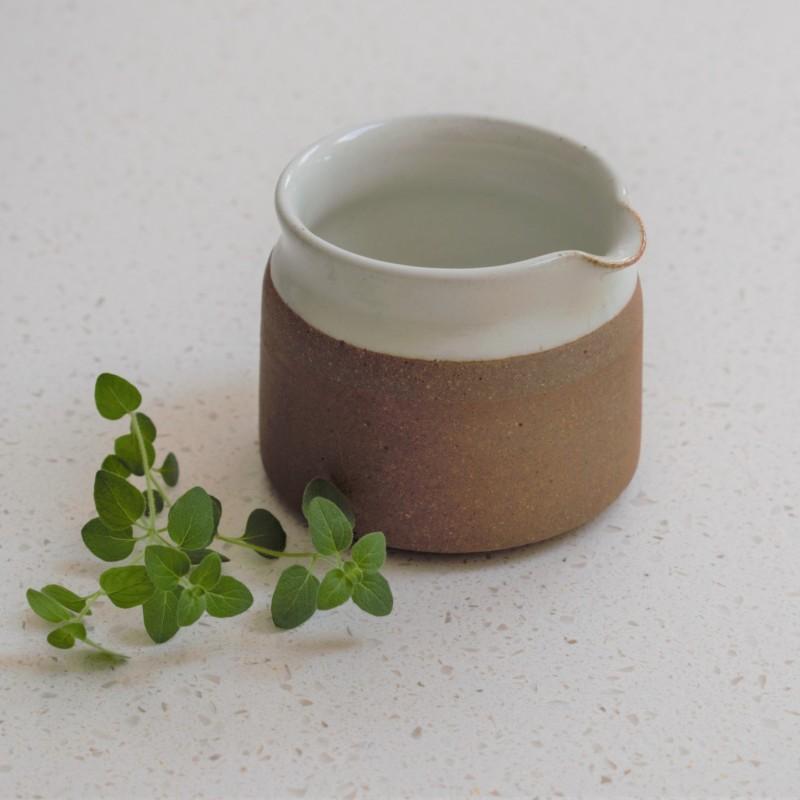Stoneware Jug in Milk White