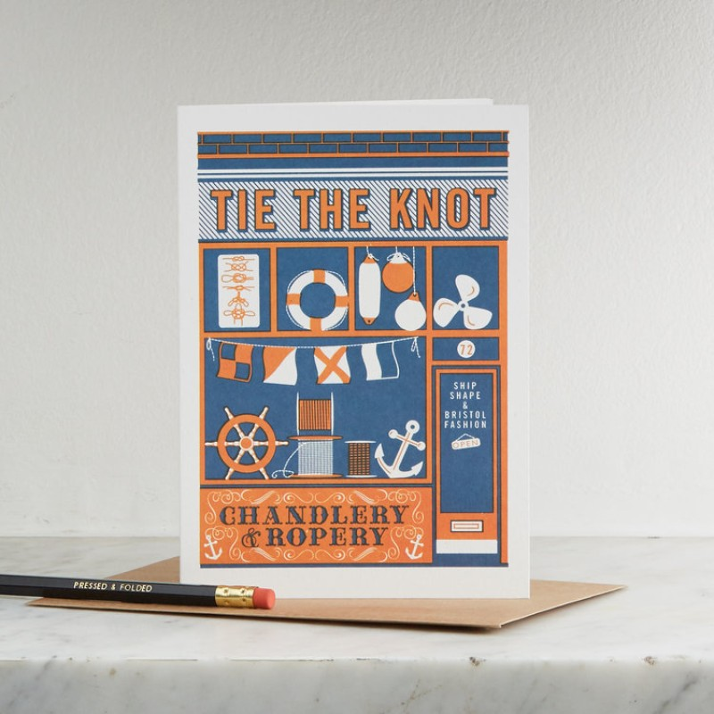 Tie The Knot Card by Pressed & Folded