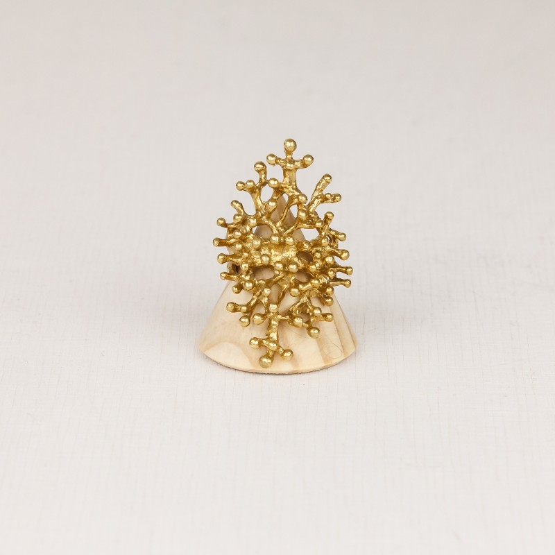 Coral-Shaped Brass Ring