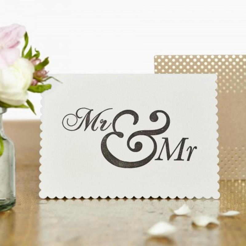 Mr & Mr Card by Katie Leamon