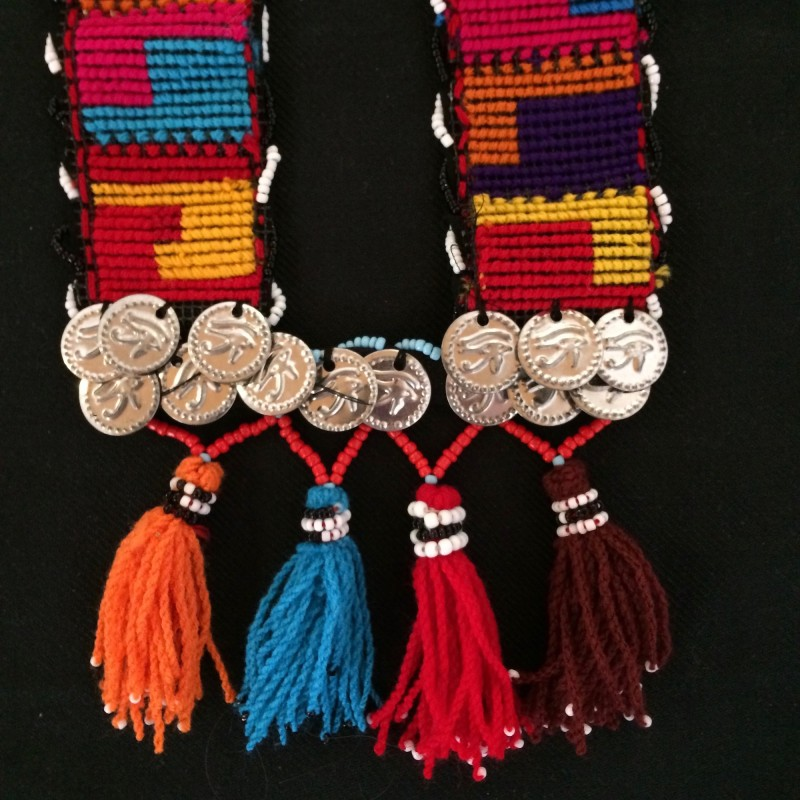 Elaborate Bedouin Necklace with Tassels & Coins