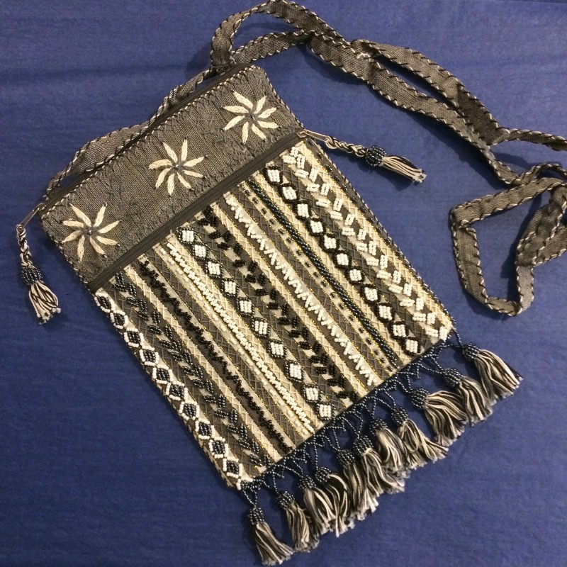Bedouin Beaded Slim Shoulder Bag