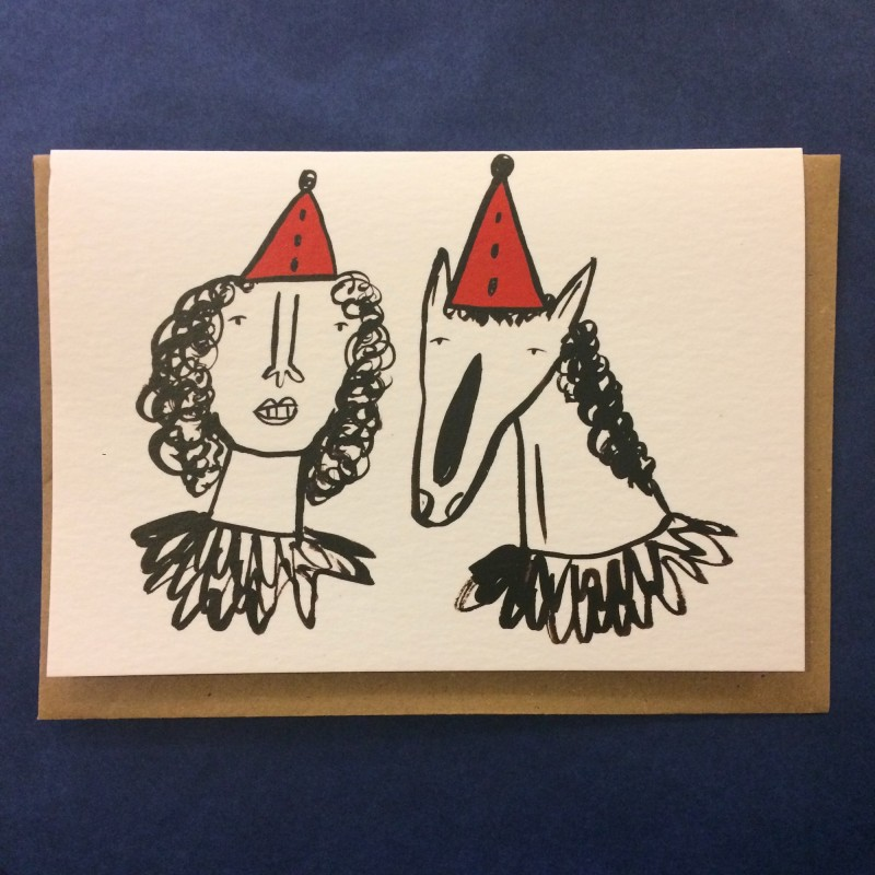 Party Hats Card by Abigail Burch