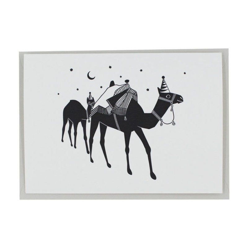 Letterpress Birthday Camel Card by Artcadia