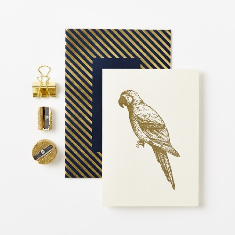 Gold Parrot Luxe Card by Katie Leamon