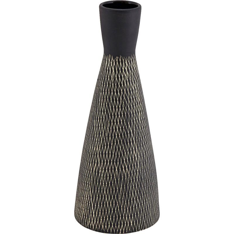 Liv Black & White Carol Hourglass Vase