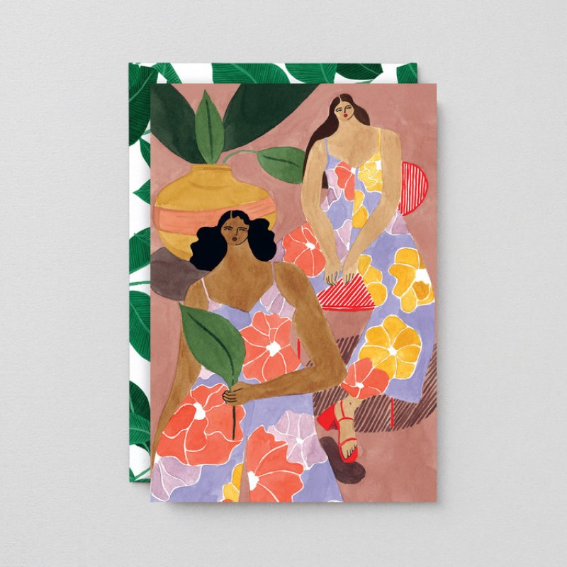 Floral Girls Art Card by Wrap