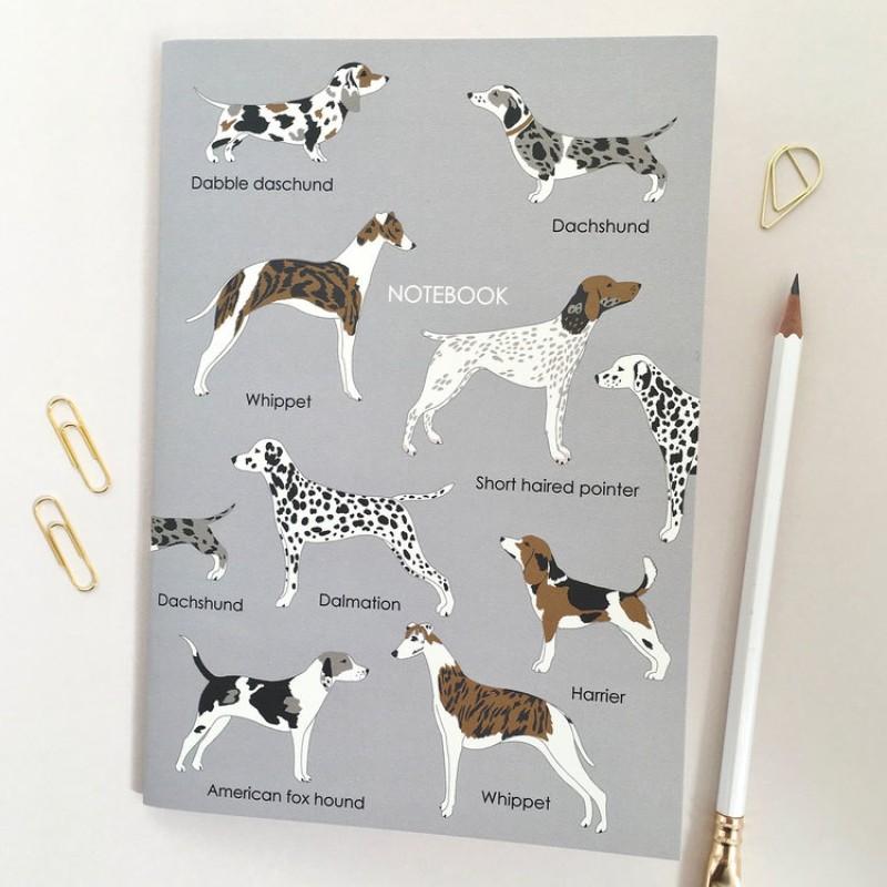 A5 'Woof' Dog Notebook by Elvira Van Vredenburgh