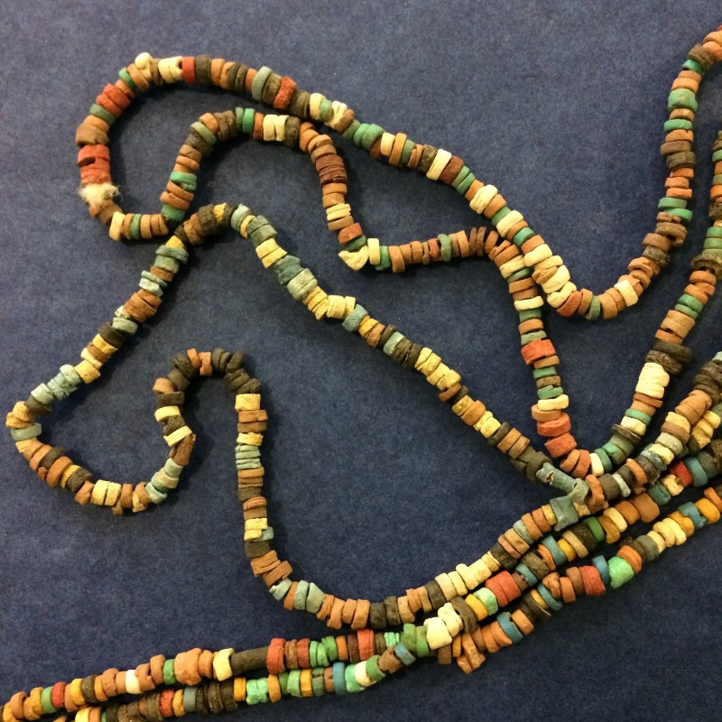 Tiny Terracotta Bead Long Necklace