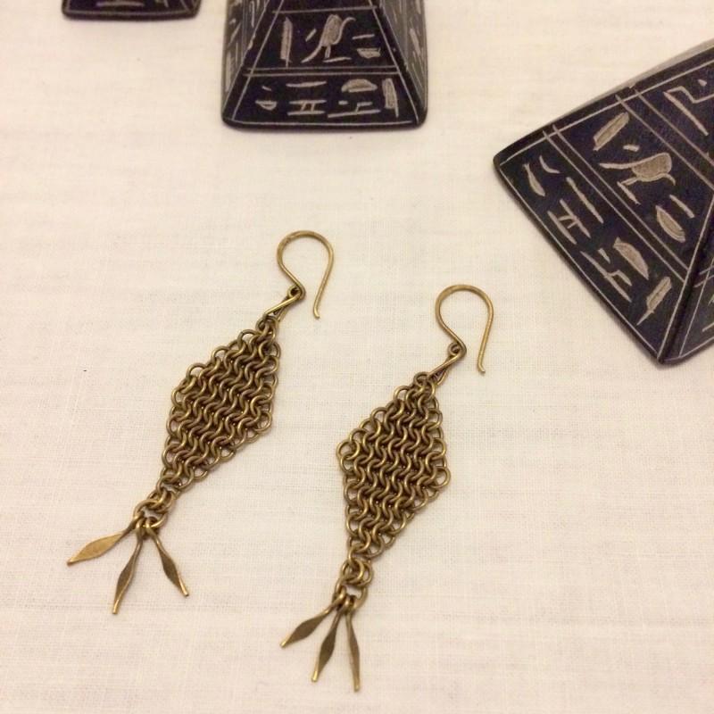 Irth Samaka Brass Earrings