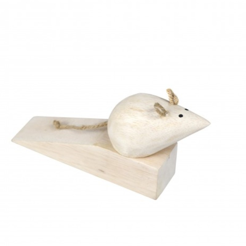 Mouse Shaped Wooden Door Wedge
