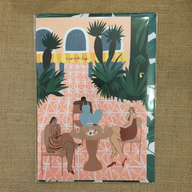Le Cafe de la Jungle Art Card by Wrap