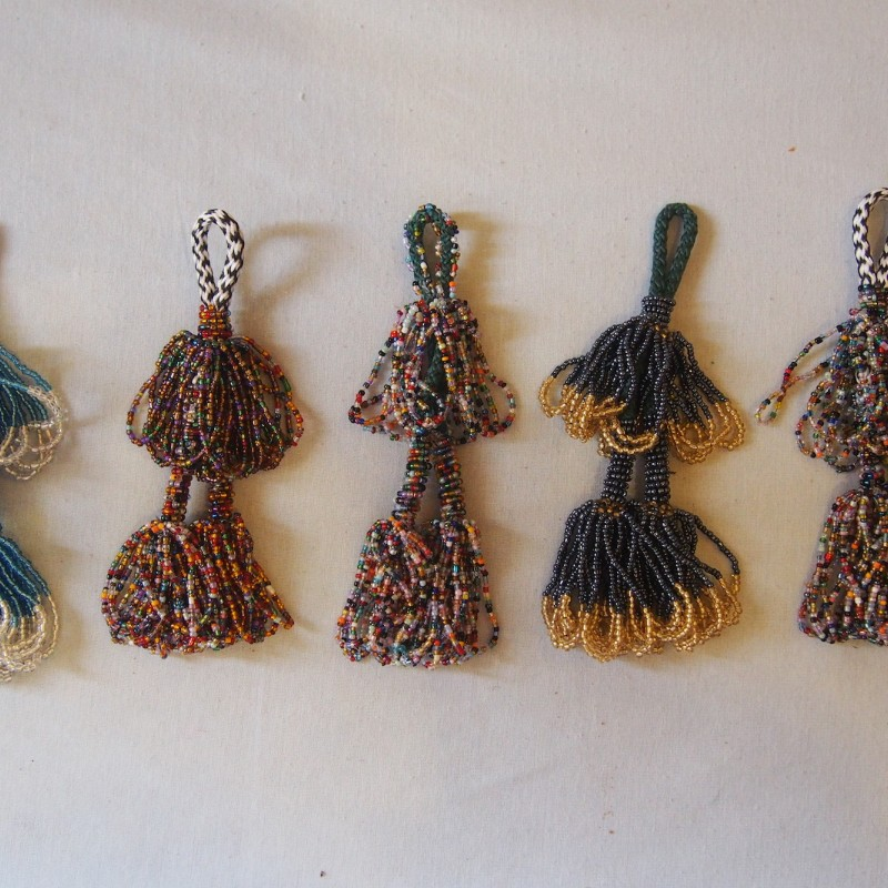 Beaded Bedouin Double Tassels